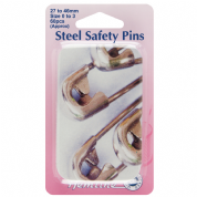 Hemline Safety Pins - Assorted Sizes in Attractive Tin - Steel - 60 pack